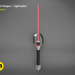 render_scene_darth-malgus-saber-color.29 kopie.jpg Download STL file Darth Malgus's lightsaber • 3D print object, 3D-mon