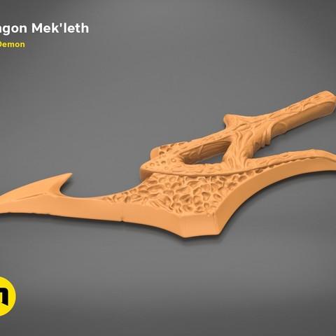 mekleth1_orange.480.jpg Download OBJ file Klingon Mek'leth - Star Trek • Model to 3D print, 3D-mon