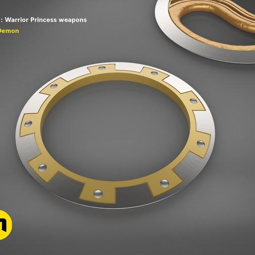 render_scene_xena-weapon.19 kopie.jpg Download STL file Xena - Warrior Princess Chakrams • 3D print model, 3D-mon