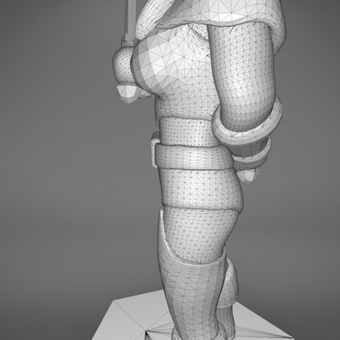 Rogue_2-detail_4.475.jpg Download STL file ELF ROGUE FEMALE CHARACTER GAME FIGURES 3D print model • 3D printer object, 3D-mon