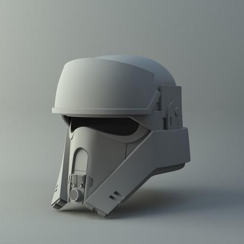 Plan imprimante 3D Casque Shoretrooper sur Star Wars RogueOne Impression 3D simple Modèle d'impression 3D, 3D-mon