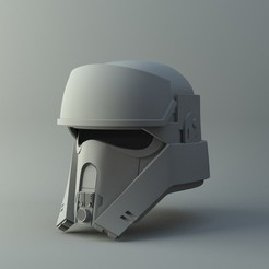 Modèle 3D Casque Shoretrooper sur Star Wars RogueOne Impression 3D simple Modèle d'impression 3D, MakersLAB