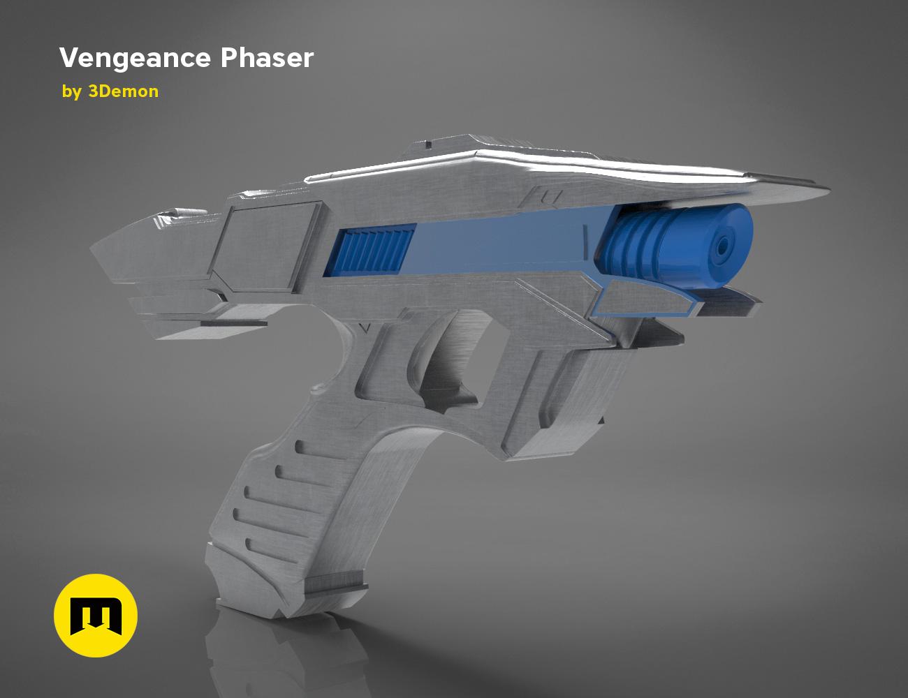 Vengeance-color.331.jpg Download OBJ file Vengeance Phaser -Star Trek • 3D printer object, 3D-mon