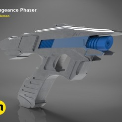 3D printer files Vengeance Phaser -Star Trek, 3D-mon