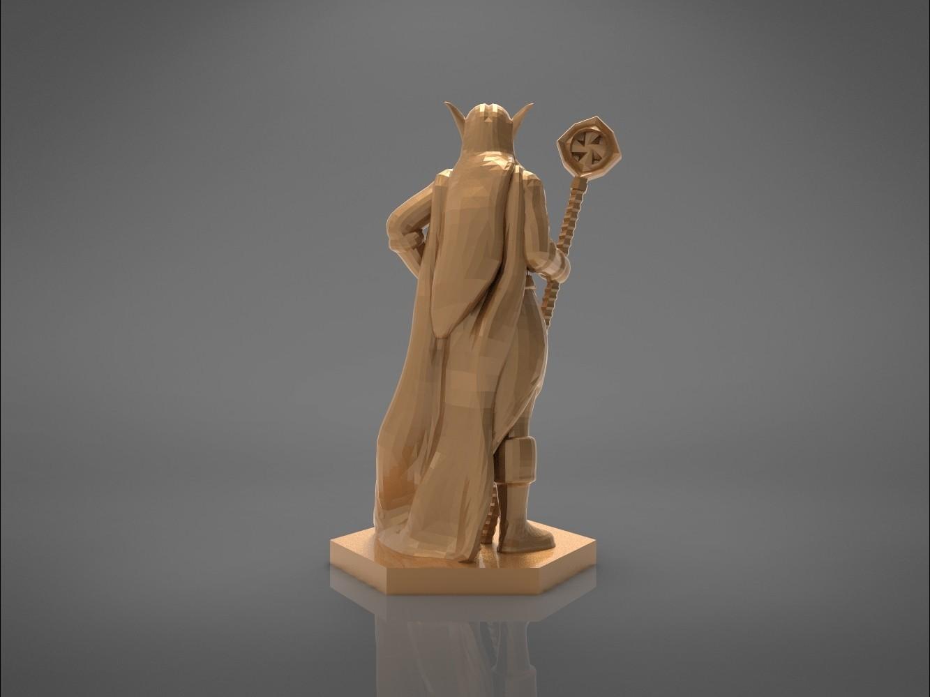 Mage_2_-back_perspectivve.161.jpg Download STL file ELF MAGE FEMALE CHARACTER GAME FIGURES 3D print model • 3D printing template, 3D-mon