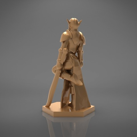 Warrior_2-back_perspectivve.321.jpg Download STL file ELF WARRIOR FEMALE CHARACTER GAME FIGURE 3D print model • 3D printing object, 3D-mon