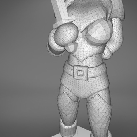 Rogue_2-detail_3.473.jpg Download STL file ELF ROGUE FEMALE CHARACTER GAME FIGURES 3D print model • 3D printer object, 3D-mon