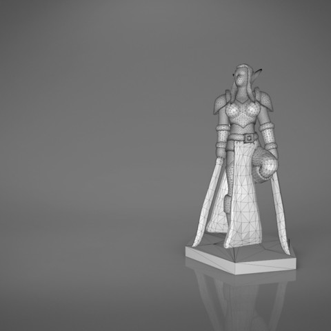 Warrior_2-main_render.339.jpg Download STL file ELF WARRIOR FEMALE CHARACTER GAME FIGURE 3D print model • 3D printing object, 3D-mon
