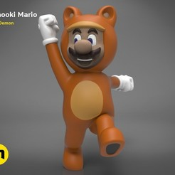 Tonooki_mario_render_color.125.jpg Download STL file Tanooki Mario • 3D printer model, 3D-mon