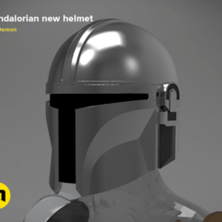 Descargar modelo 3D EL CASCO MANDALORIANO - STAR WARS 3D PRINT MODEL, 3D-mon