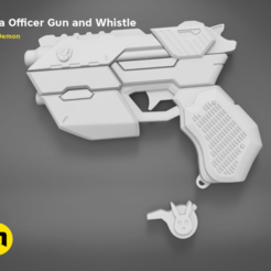 3D printing model Officer D.Va gun and whistle from Overwatch, 3D-mon