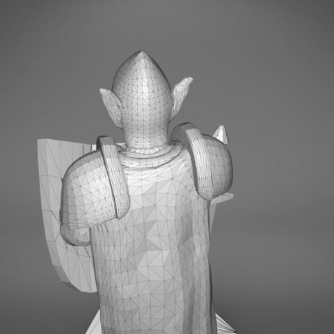 Warrior-detail_5.389.jpg Download STL file ELF WARRIOR CHARACTER GAME FIGURE 3D print model • Object to 3D print, 3D-mon