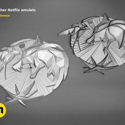 Download STL file Witcher Netflix amulets , 3D-mon