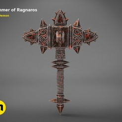 Download 3D printing templates Hammer of Ragnaros - World of Warcraft, 3D-mon