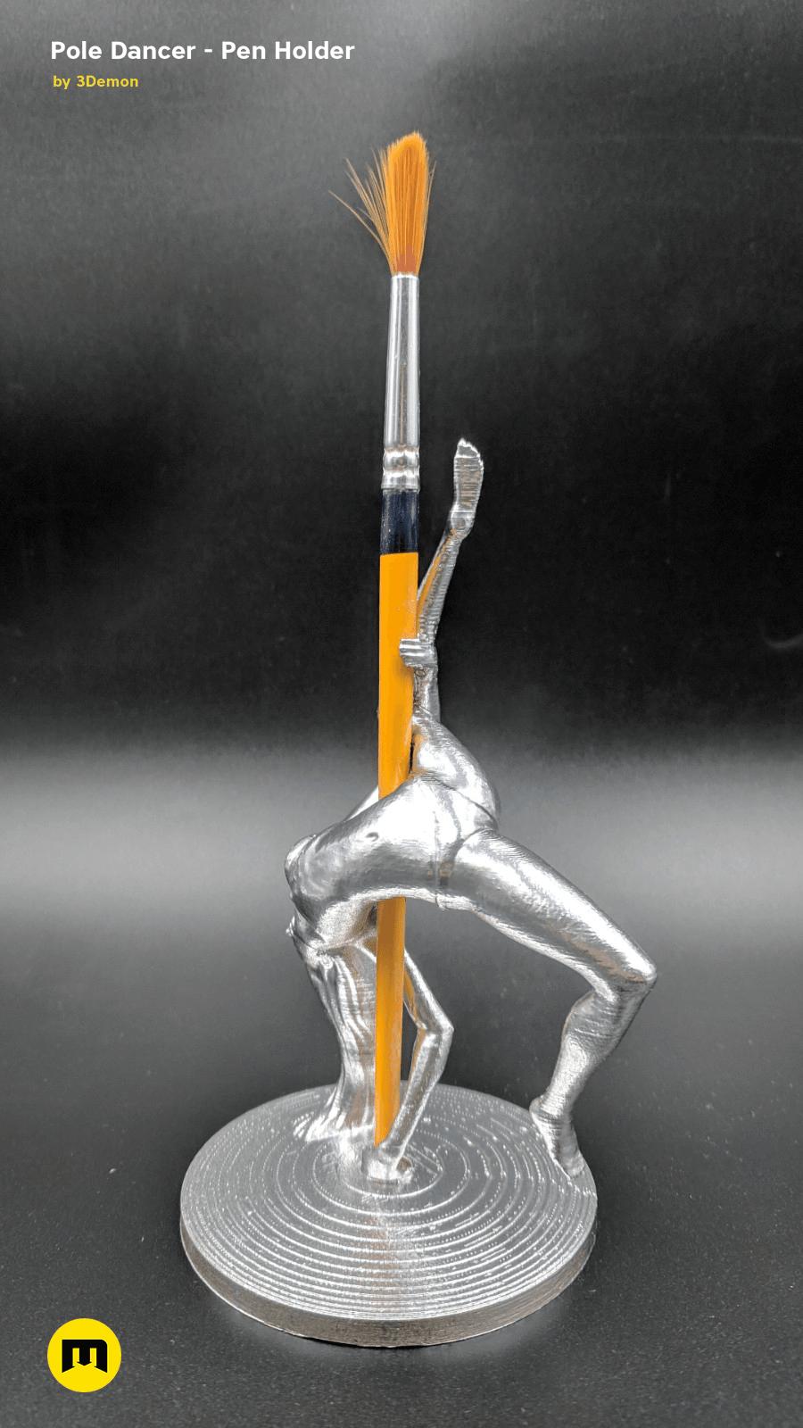 IMG_20190220_103305.png Download STL file Pole Dancer - Pen Holder • Object to 3D print, 3D-mon