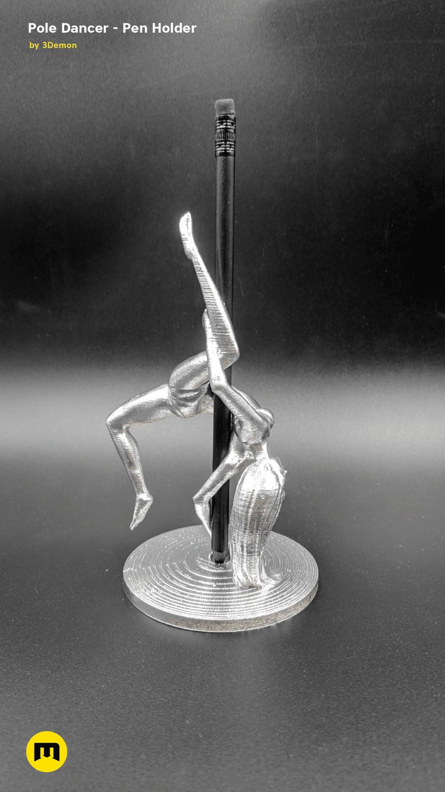 IMG_20190220_103224.png Download STL file Pole Dancer - Pen Holder • Object to 3D print, 3D-mon
