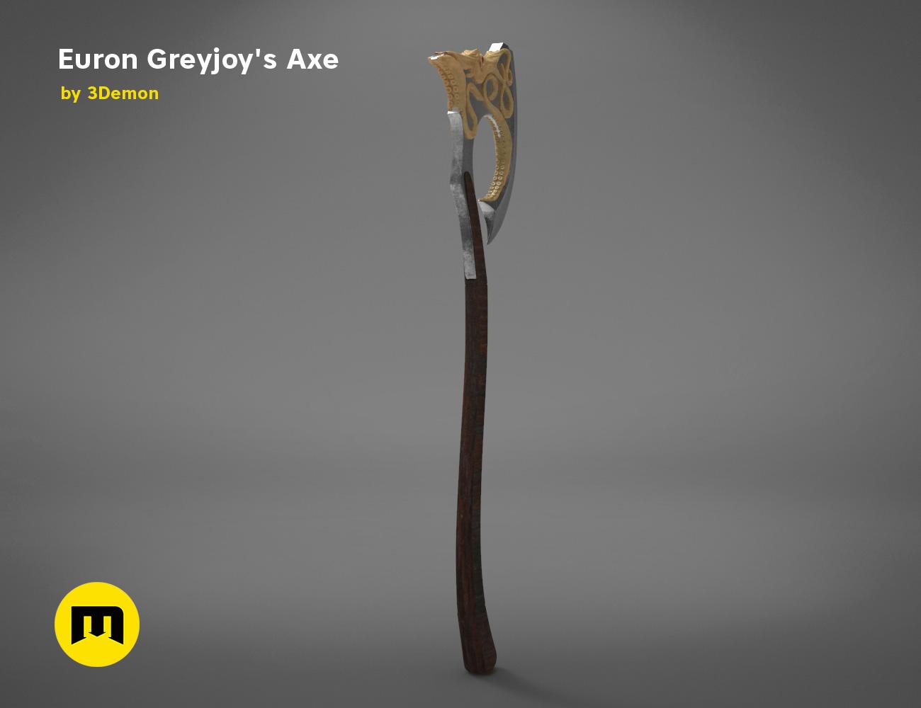 axe-gameofthrones-render.975.jpg Download OBJ file Euron Greyjoy's Axe • 3D printable object, 3D-mon