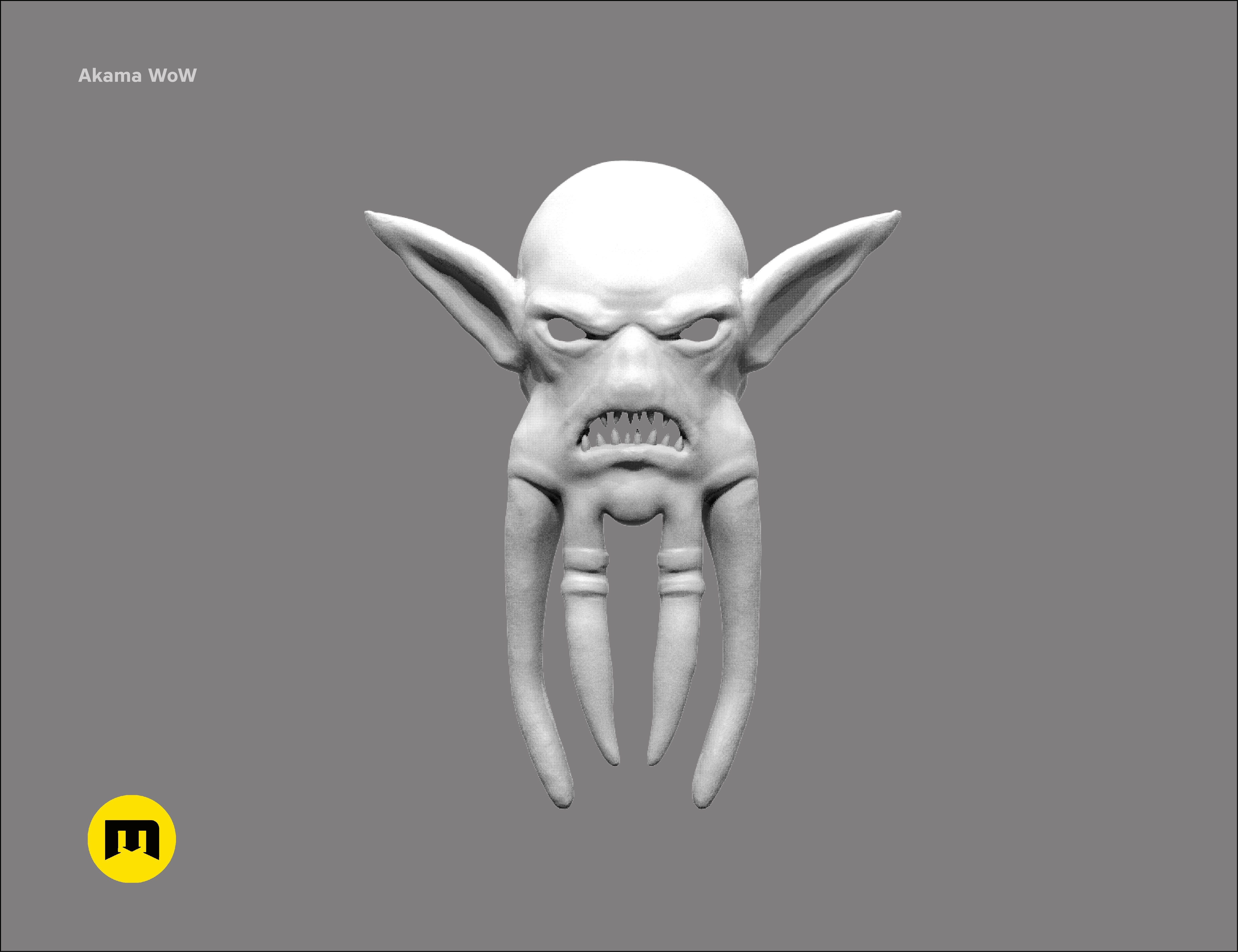 CGTrader_akama2.jpg Download STL file Mask of Akama's face from World of Warcraft • Model to 3D print, 3D-mon