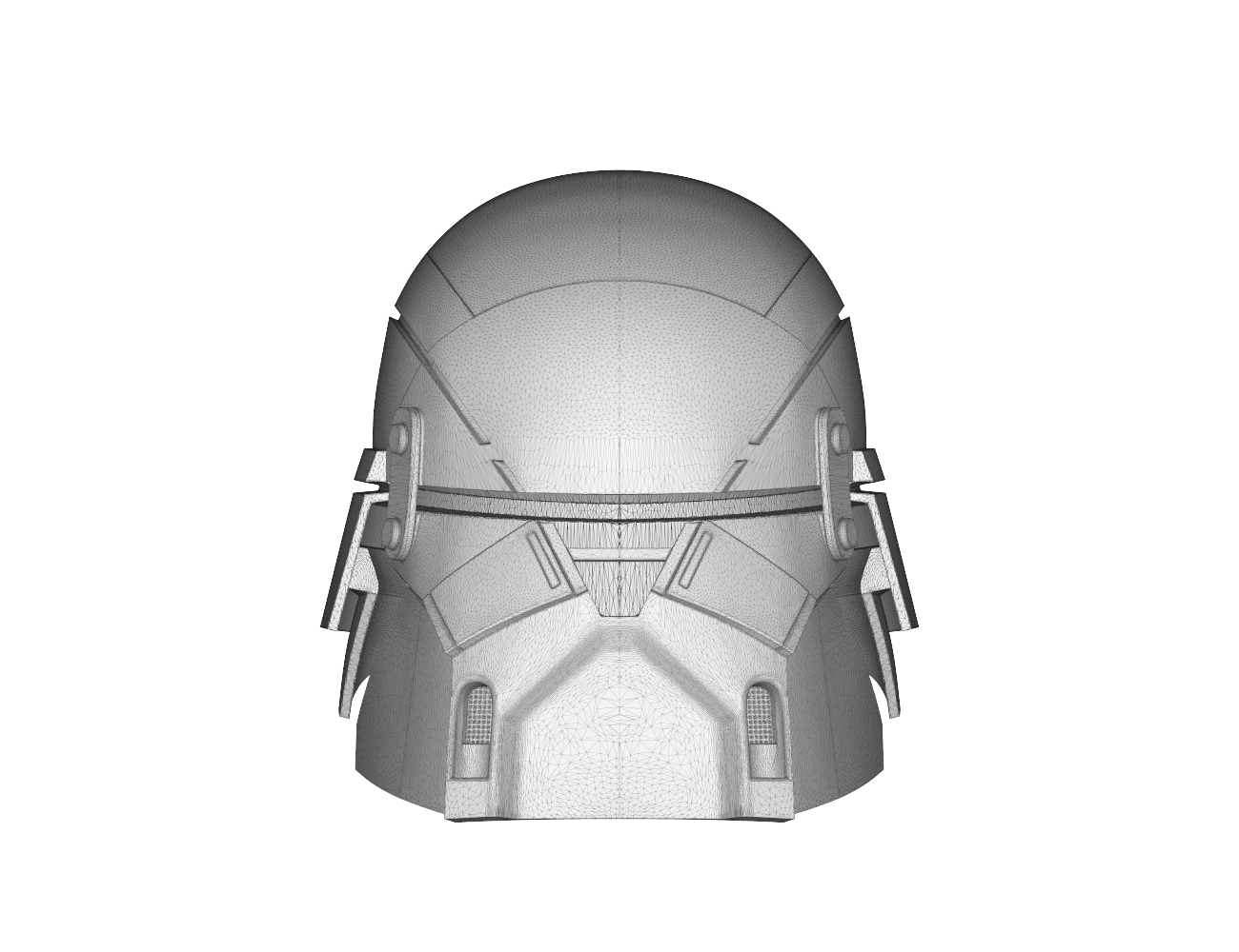 render_scene-front.12.png Download STL file Armory - Knights of Ren Helmet, StarWars model for 3D Print • 3D printing design, 3D-mon