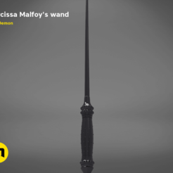 Download 3D printing templates Narcissa Malfoy's Wand, 3D-mon