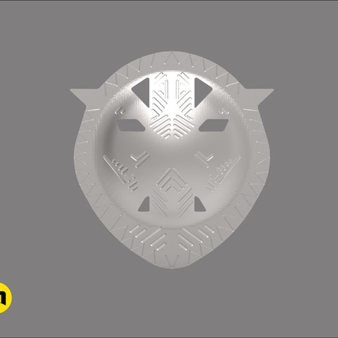 okoye buckle render3.jpg Download STL file Wakanda Okoye buckle general • Template to 3D print, 3D-mon