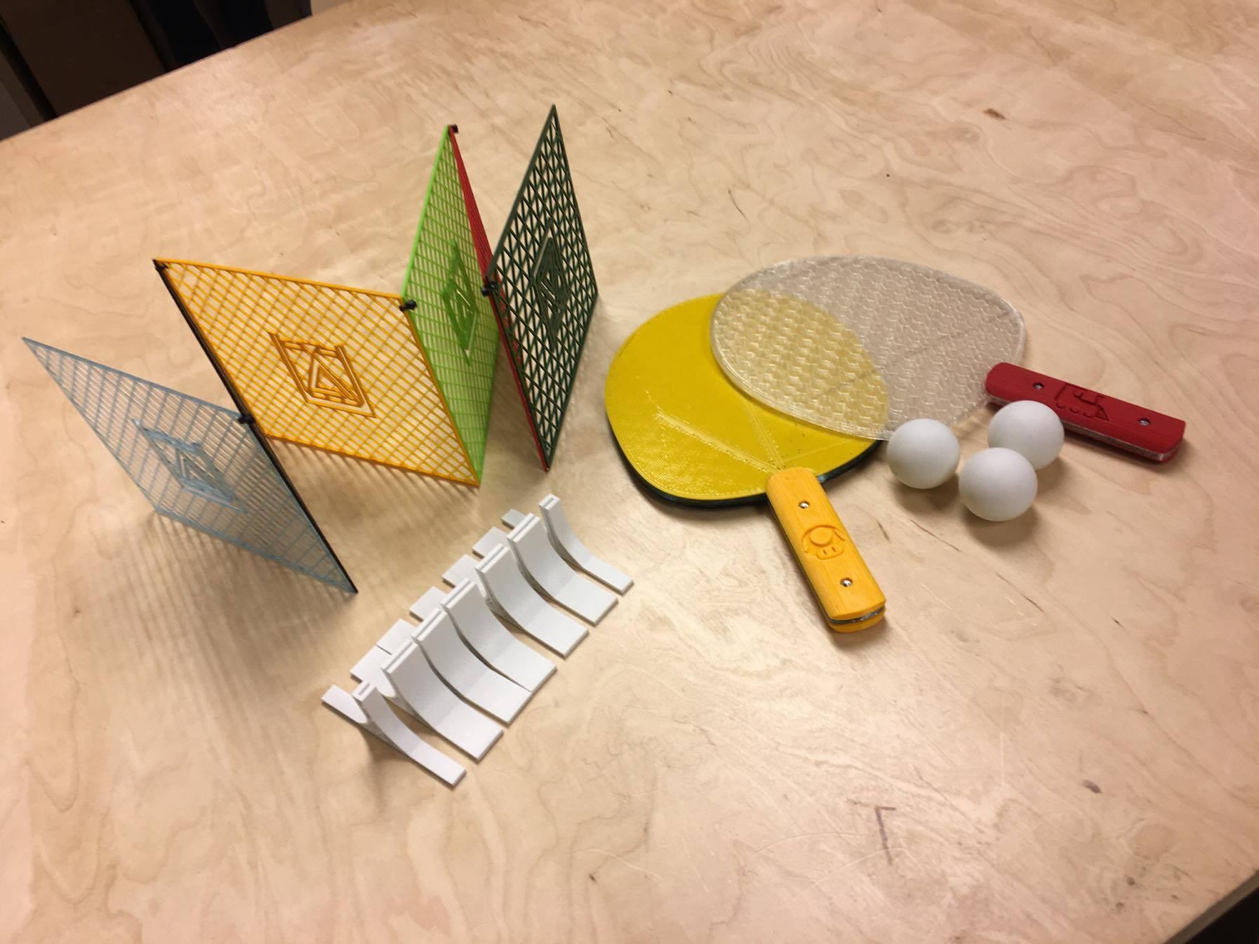 ping pong makerslab 3d print 01.jpg Télécharger fichier STL gratuit Ping Pong tennis de table • Design pour impression 3D, 3D-mon