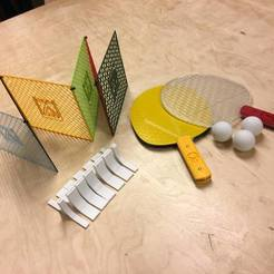 Fichier STL gratuit Ping Pong tennis de table, MakersLAB