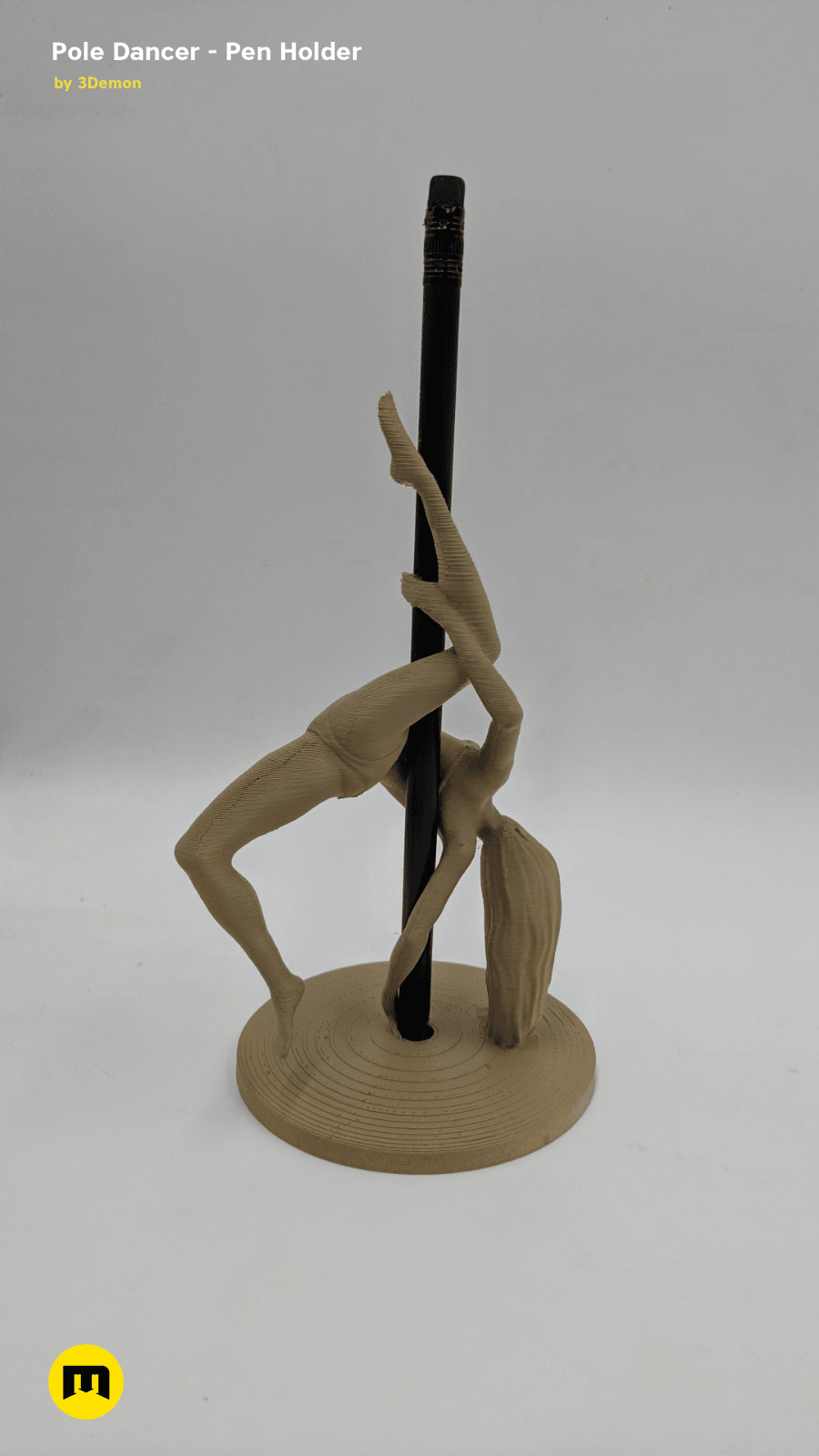IMG_20190219_154914.png Download STL file Pole Dancer - Pen Holder • Object to 3D print, 3D-mon