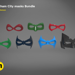 Download STL file Gotham City mask bundle, 3D-mon