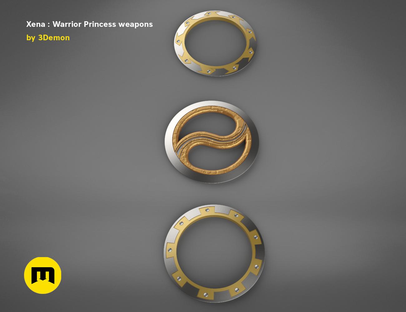 render_scene_xena-weapon.18 kopie.jpg Download STL file Xena - Warrior Princess Chakrams • 3D print model, 3D-mon