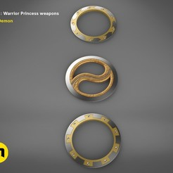 render_scene_xena-weapon.18 kopie.jpg Download STL file Xena - Warrior Princess Chakrams • 3D print model, 3D-mon