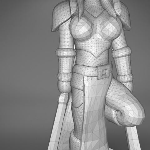 Warrior_2-detail_3.347.jpg Download STL file ELF WARRIOR FEMALE CHARACTER GAME FIGURE 3D print model • 3D printing object, 3D-mon