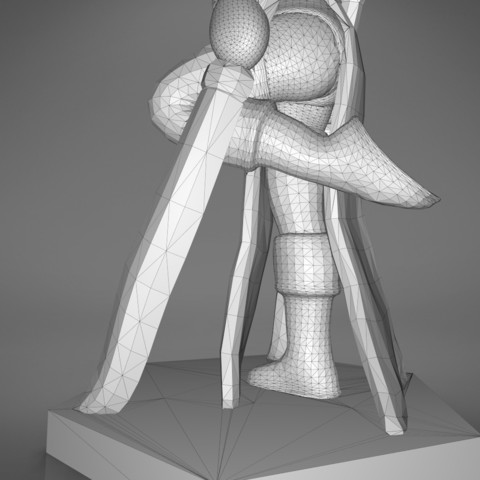Warrior_2-detail_6.353.jpg Download STL file ELF WARRIOR FEMALE CHARACTER GAME FIGURE 3D print model • 3D printing object, 3D-mon