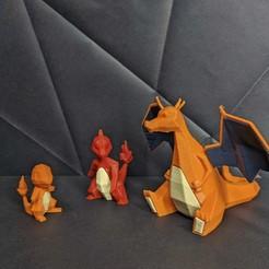Download STL file Charmander Low Poly Pokemon • Model to 3D print, 3D-mon