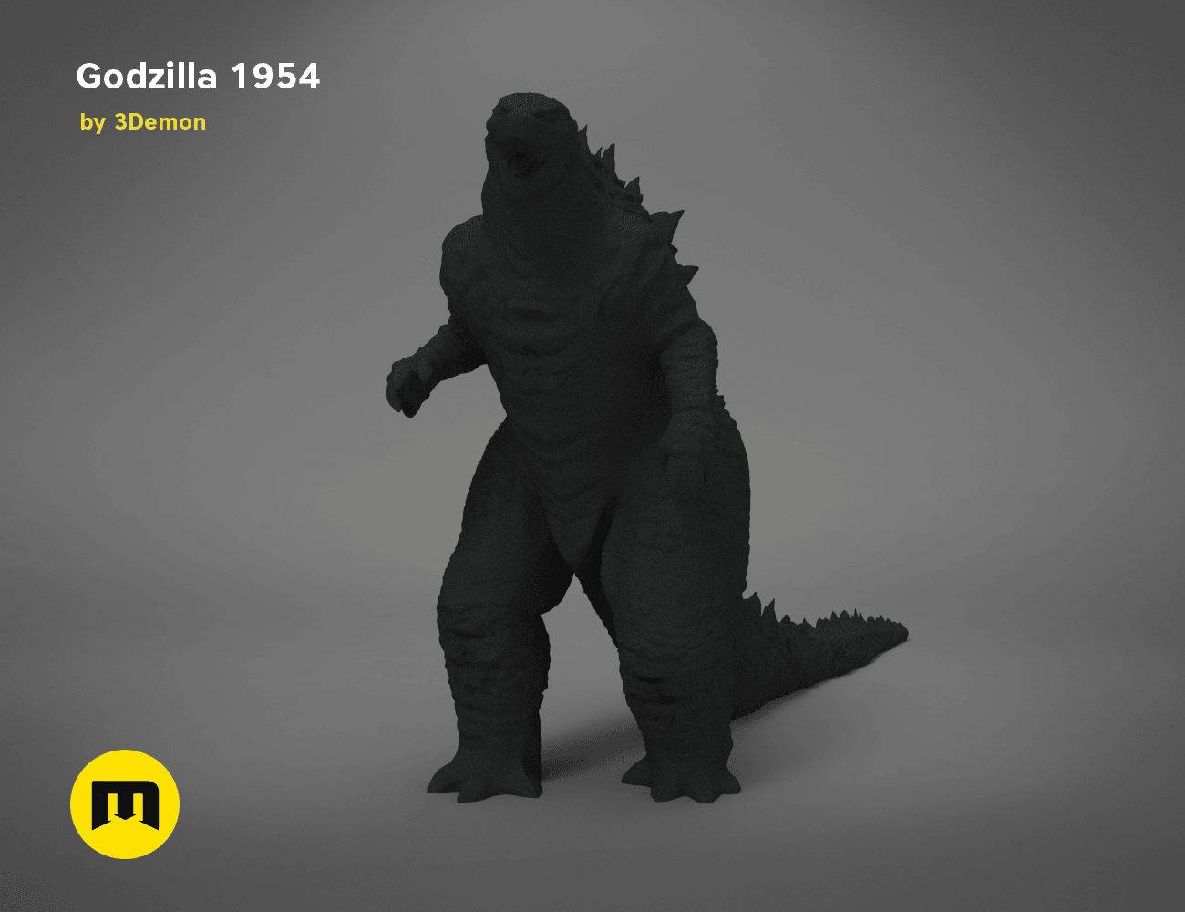 godzilla-black-japanese-main_render.193.png Download free OBJ file Godzilla 1954 figure and bottle opener • 3D printer model, 3D-mon