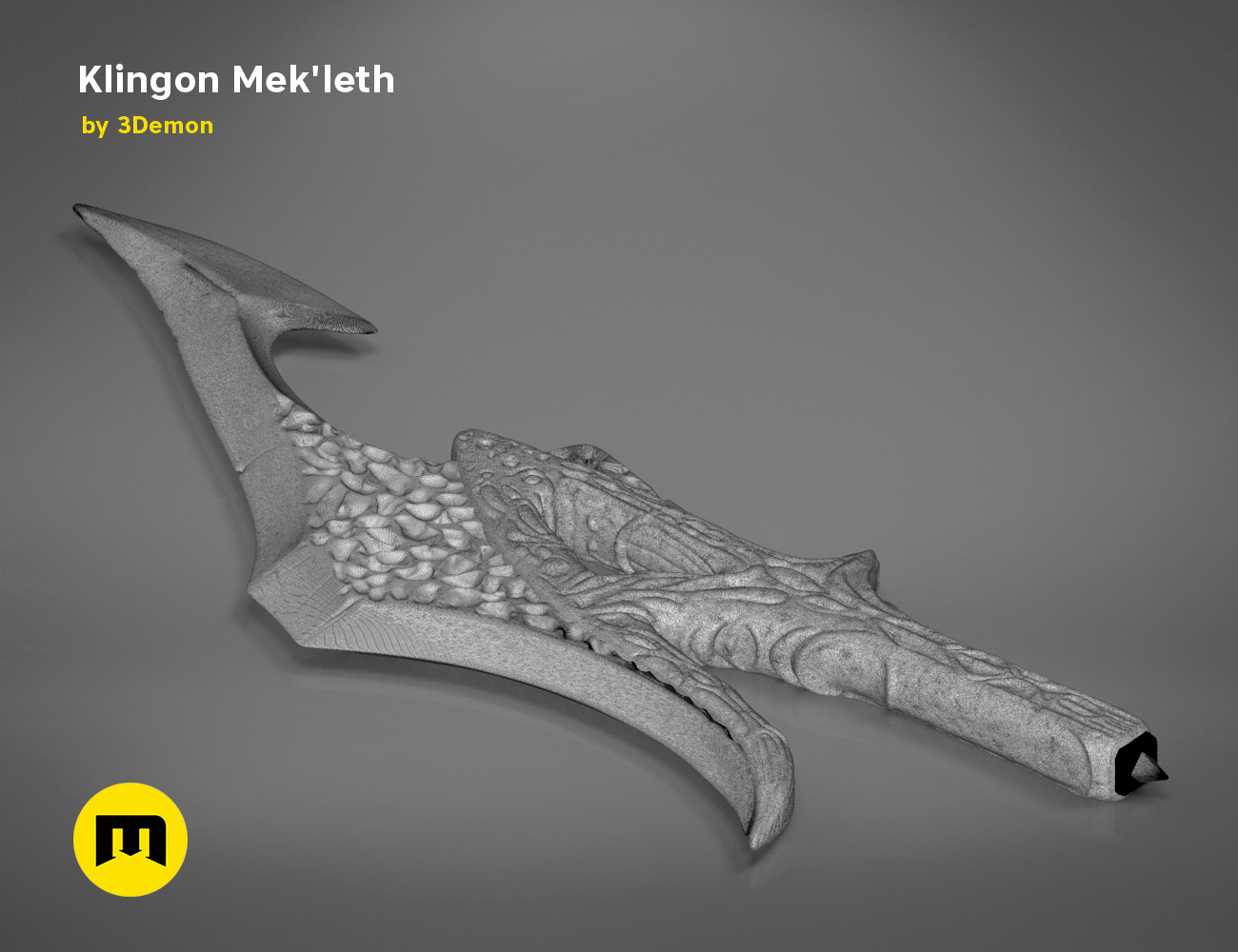 mekleth1_mesh.476.jpg Download OBJ file Klingon Mek'leth - Star Trek • Model to 3D print, 3D-mon