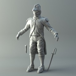 3d printer designs Naval Captain 3D print model, 3D-mon