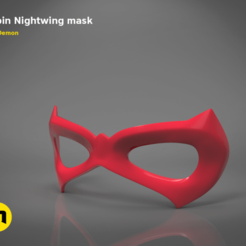 Download 3D printer designs Robin Nightwing mask, 3D-mon