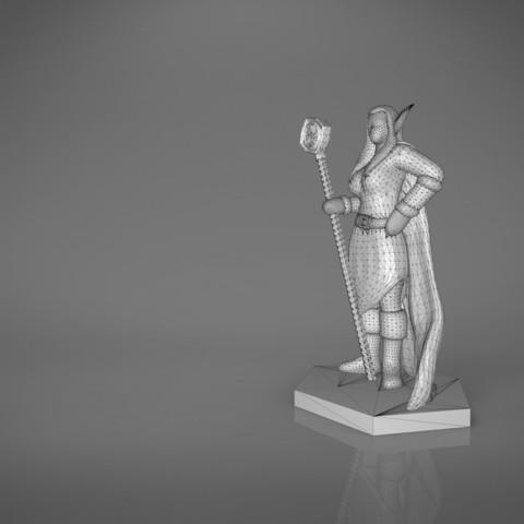 Mage_2_-main_render.179.jpg Download STL file ELF MAGE FEMALE CHARACTER GAME FIGURES 3D print model • 3D printing template, 3D-mon