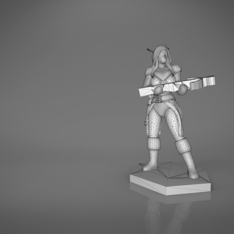 female_ranger-main_render.558.jpg Download STL file ELF RANGER FEMALE CHARACTER GAME FIGURES 3D print model • 3D printing object, 3D-mon