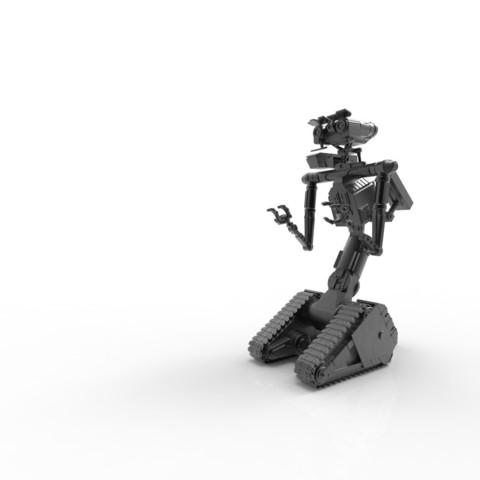 untitled.1.jpg Download STL file Johnny 5 - 3D print model • 3D printable template, 3D-mon