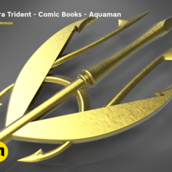 Download STL file Mera's Trident from the Aquaman comic books, 3D-mon