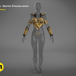 render_scene_Xena-armor-color.1.jpg Download STL file Xena - Warrior Princess cosplay armor • 3D print template, 3D-mon