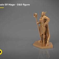 Download 3D printer model ELF MAGE FEMALE CHARACTER GAME FIGURES 3D print model, 3D-mon