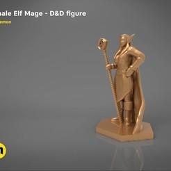 Impresiones 3D ELF MAGE HEMBRA CARACTER JUEGO FIGURAS Modelo de impresión 3D, 3D-mon