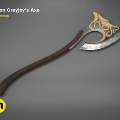 Imprimir en 3D Hacha de Euron Greyjoy, 3D-mon