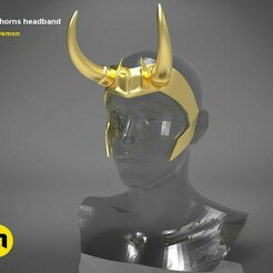 render_scene_Loki-HeadBand-color..58.jpg Download STL file Loki horns headband • Model to 3D print, 3D-mon