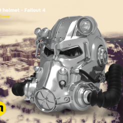 Download 3D printing designs T60 helmet - Fallout 4, 3D-mon