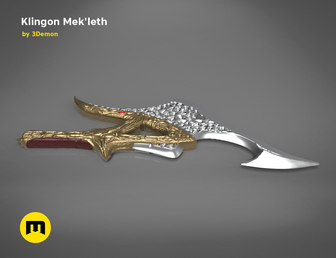 mekleth1_color_render.471.jpg Download OBJ file Klingon Mek'leth - Star Trek • Model to 3D print, 3D-mon