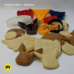 Download 3D printing designs Pokemon Cookie Cutters, 3D-mon